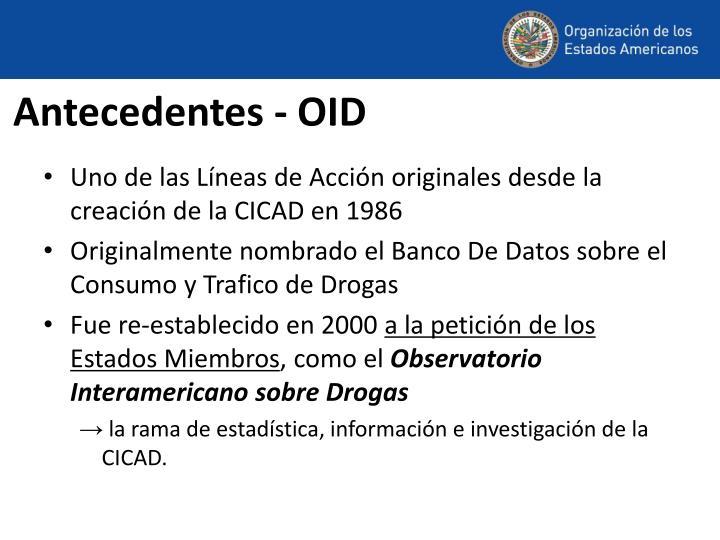 Antecedentes - OID