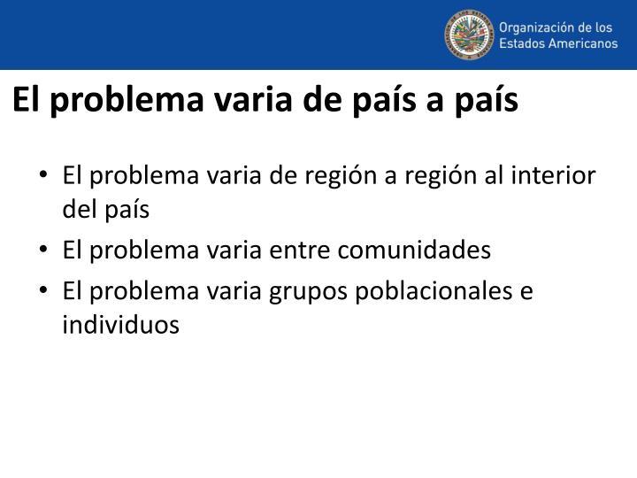 El problema varia de país a país