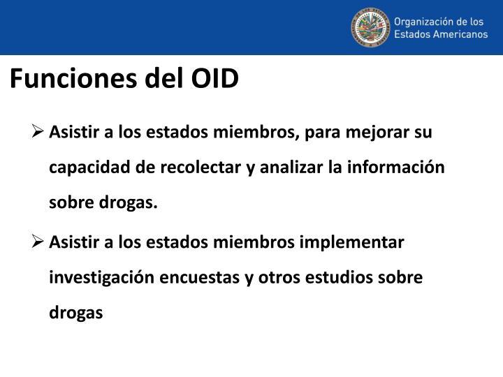 Funciones del OID