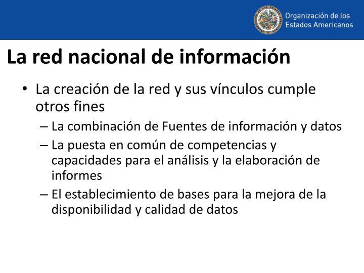 La red nacional de información