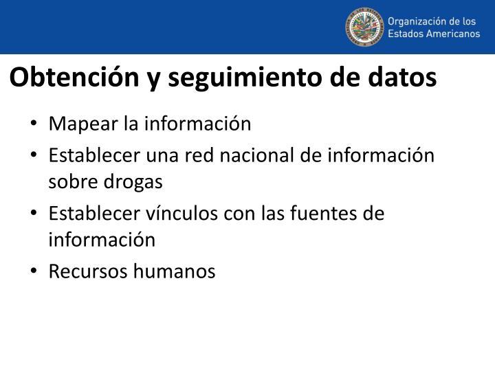 Obtención y seguimiento de datos