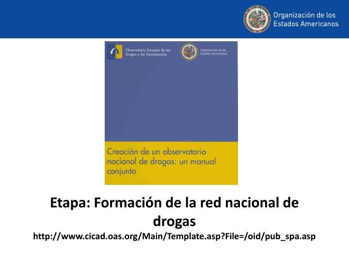 Etapa: Formación de la red nacional de drogas