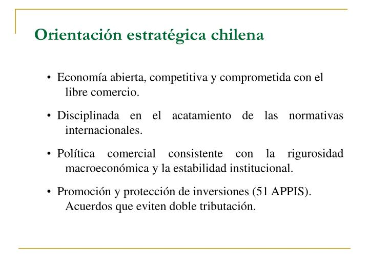 Orientación estratégica chilena
