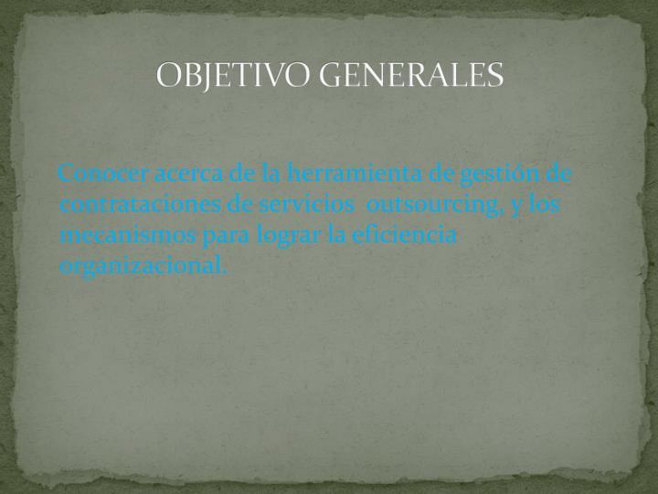 OBJETIVO GENERALES