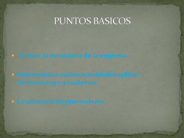 PUNTOS BASICOS