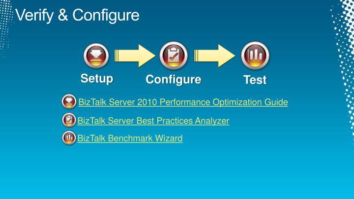 Verify & Configure