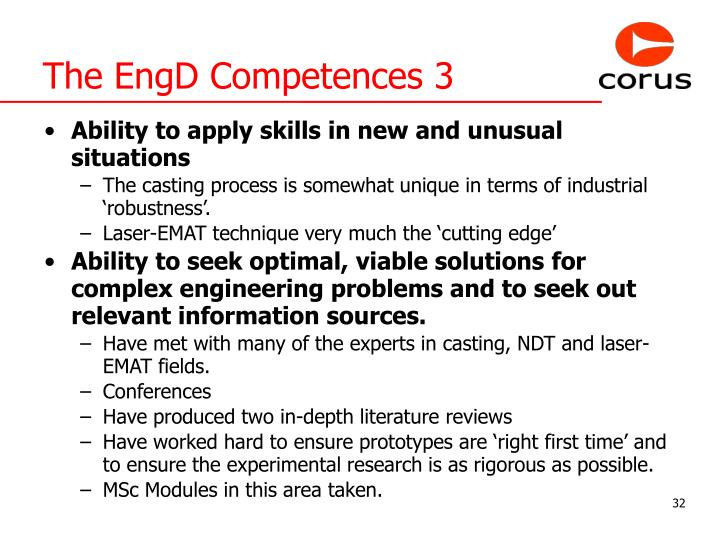 The EngD Competences 3