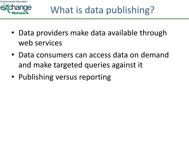 What is data publishing?