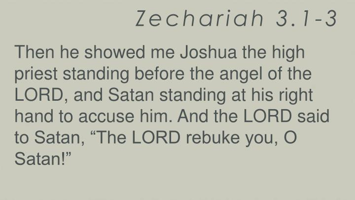 Zechariah 3.1-3