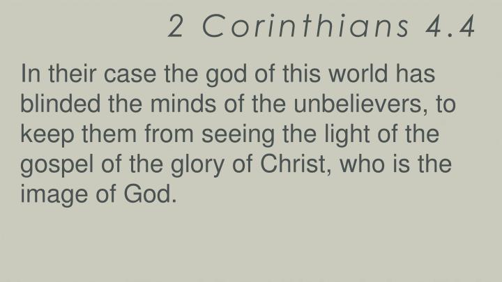 2 Corinthians 4.4