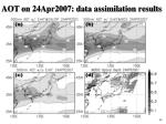 aot on 24apr2007 data assimilation results