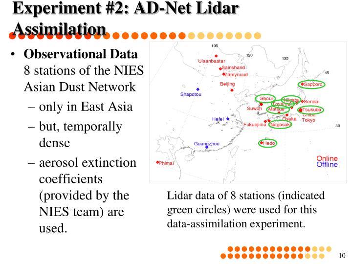 Experiment #2: AD-Net Lidar Assimilation