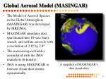 global aerosol model masingar