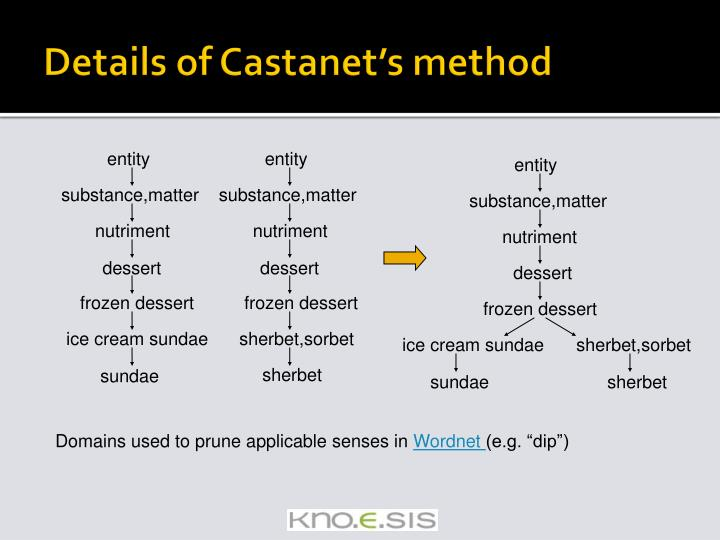 Details of Castanet's method