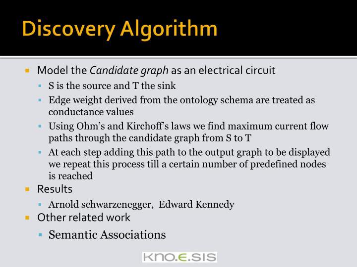 Discovery Algorithm