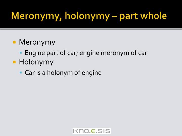 Meronymy