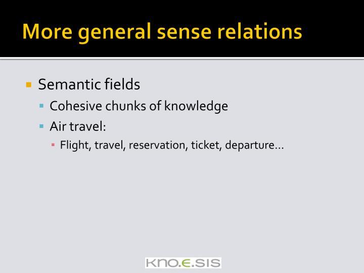 More general sense relations