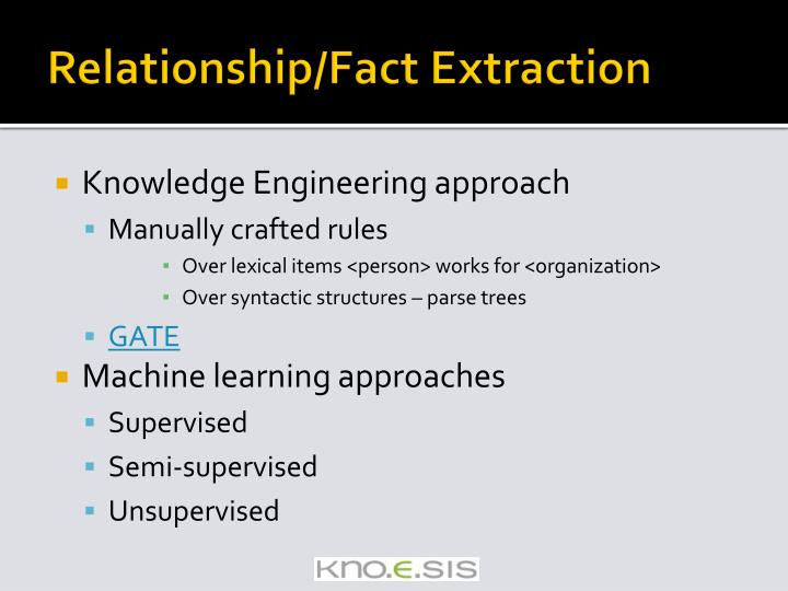 Relationship/Fact Extraction