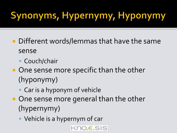 Synonyms,