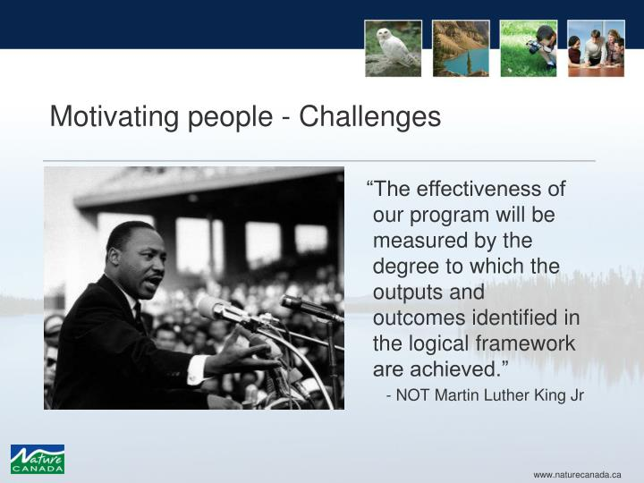 Motivating people - Challenges