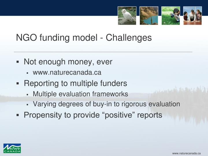 NGO funding model - Challenges