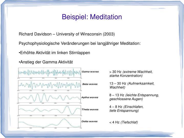 Beispiel: Meditation