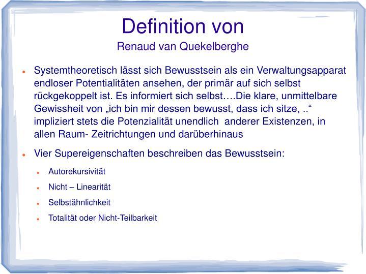 Definition von