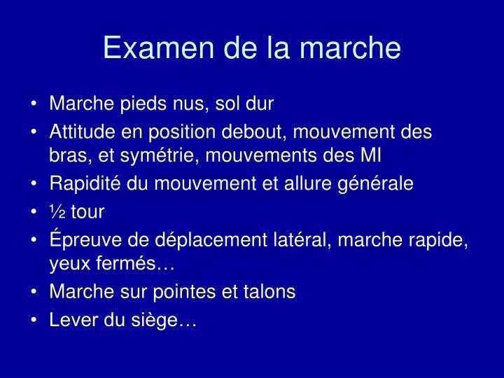 Examen de la marche