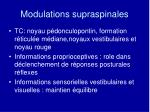 modulations supraspinales