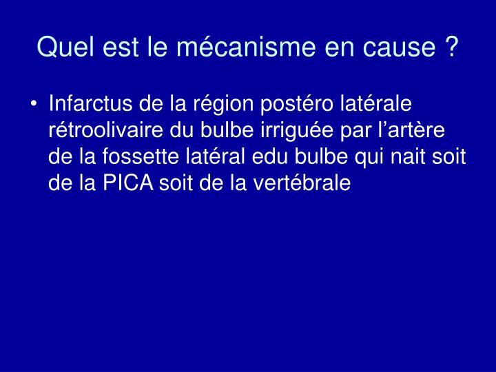 Quel est le mécanisme en cause ?