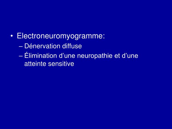 Electroneuromyogramme:
