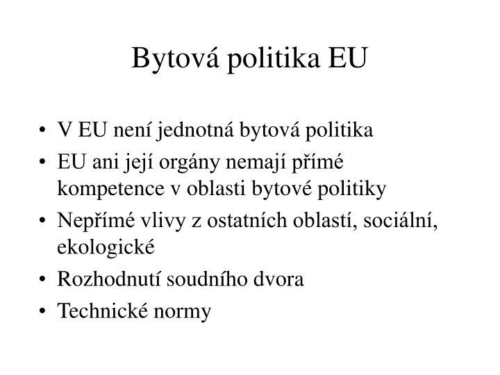 Bytová politika EU