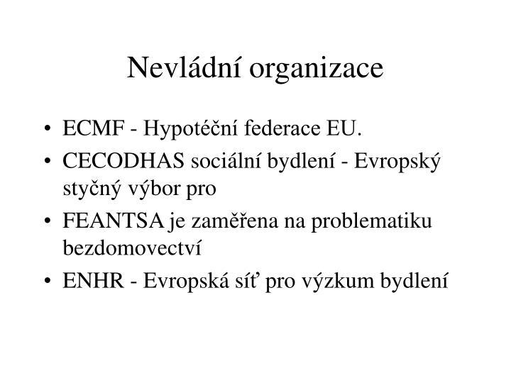 Nevládní organizace