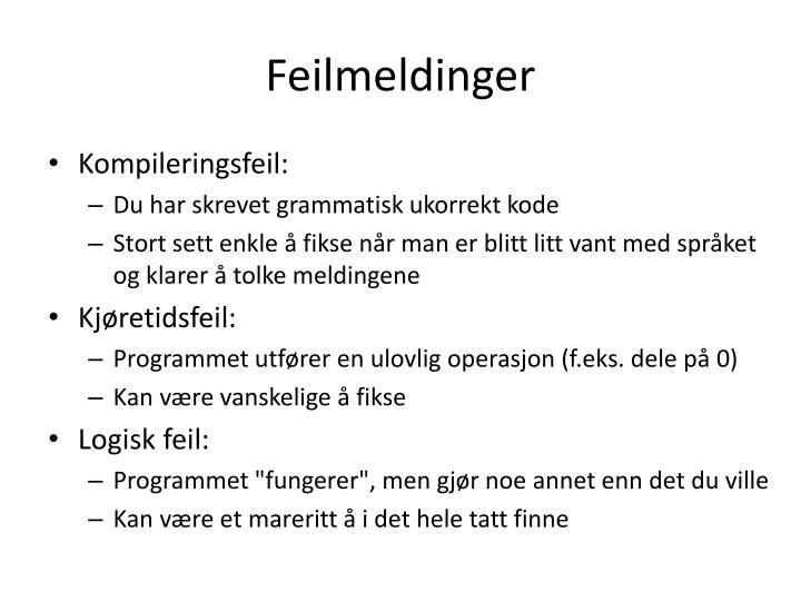 Feilmeldinger