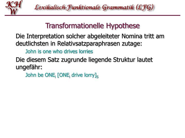 Transformationelle Hypothese