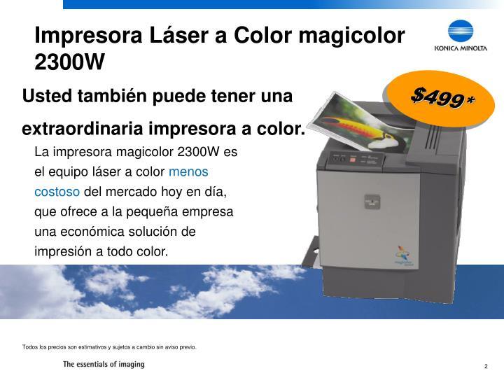 Impresora Láser a Color magicolor 2300W