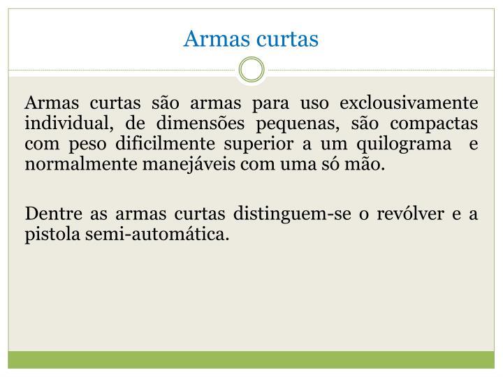 Armas curtas