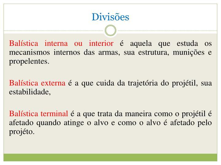 Divisões