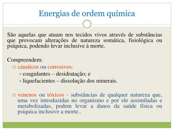 Energias de ordem química