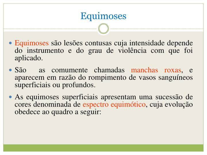 Equimoses