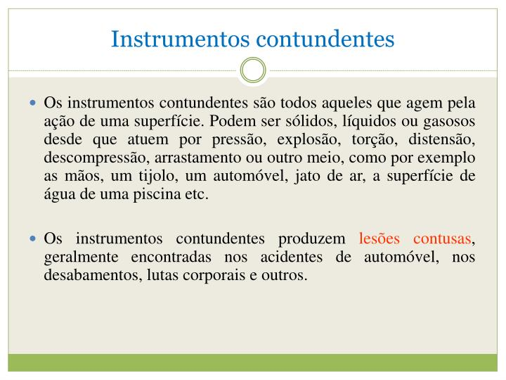 Instrumentos contundentes
