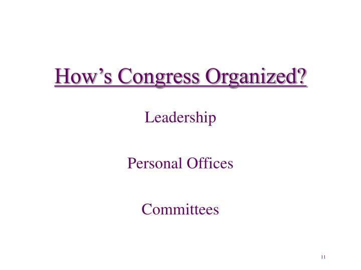 How's Congress Organized?