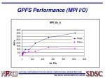 gpfs performance mpi i o