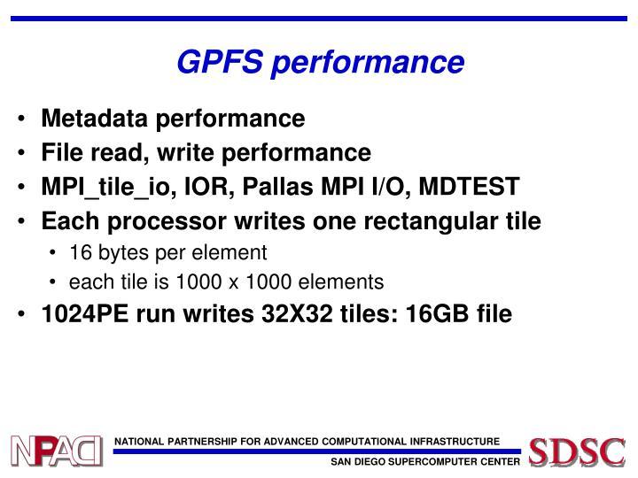 GPFS performance