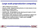 large scale preproduction computing