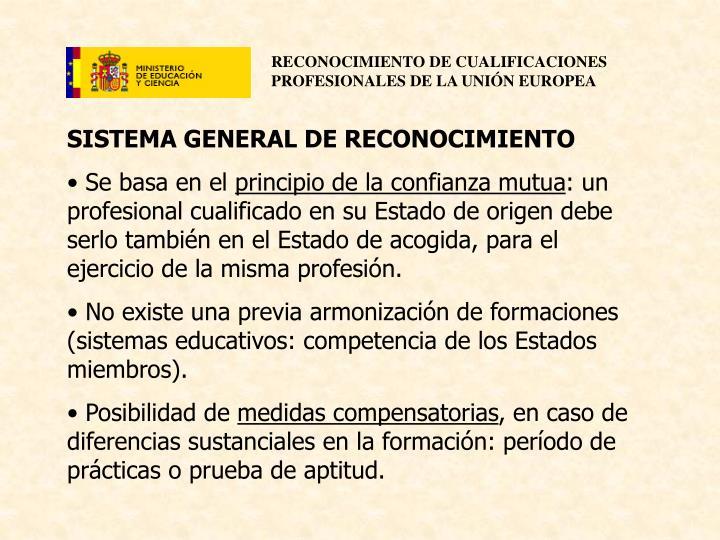 SISTEMA GENERAL DE RECONOCIMIENTO