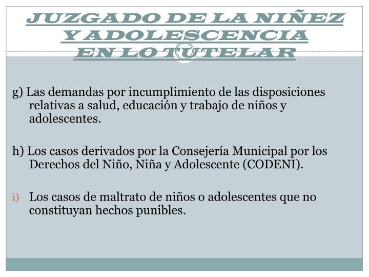 JUZGADO DE LA NIÑEZ Y ADOLESCENCIA