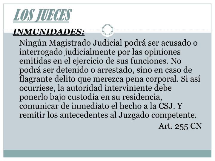 LOS JUECES