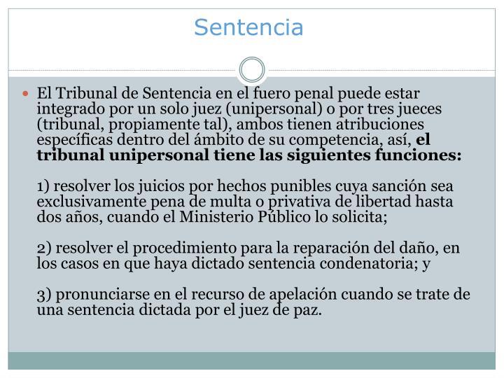 Sentencia