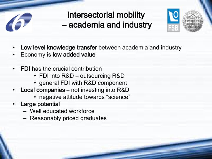 Intersectorial mobility